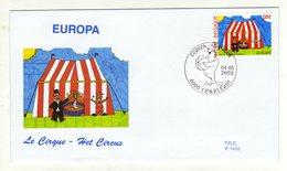 Enveloppe 1er Jour BELGIE BELGIQUE EUROPA Oblitération 6000 CHARLEROI 04/05/2002 - 2001-10