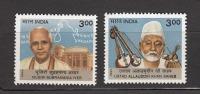 INDIA, 1999, Modern Masters Of Indian Classical Music, Ustad Alludin Khan & Musiri Subramania Iyer, Set 2 V, MNH, (**) - Musica