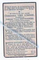 CLEMENTINA VAN LOMMEL ° LARUM-GEEL 1868 + TEN-AART-GEEL 1942 /JOANNES RAEYMAEKERS - Images Religieuses