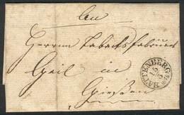 GERMANY: 15/MAR/1848 Complete Folded Letter With Datestamp Of BATTENBERG, VF Quality! - Allemagne