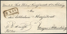 GERMANY: Entire Letter Sent On 13/MAR/1859, Excellent Quality, Nice Postal Markings! - Allemagne