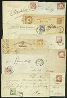 GERMANY: 10 Old Used Covers, Folded Covers, Cards, Etc., With Some Interesting Cancels! - Germany