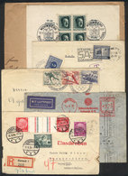 GERMANY: 4 Covers + 1 Front Used Between 1934 And 1938, There Are Thematic Postmarks, Good Frankings, One With Czechoslo - Germany