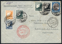 GERMANY: Registered Cover Sent From Schwenningen (31/AUG/1934) To Argentina, With Special Handstamp Of Zeppelin Flight,  - Germany
