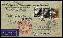 """GERMANY: Airmail Cover Sent From Hannover To Argentina On 26/OC/1934 Franked With 1.75Mk. Despite Being Endorsed """"Par Av - Germany"""