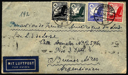 GERMANY: Airmail Cover Sent From Hannover To Argentina On 15/NO/1934 By Air France, Franked With 1.75Mk., Transit Backst - Germany