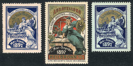 GERMANY: HEILBRONN AUSSTELLUNG, 1897 Exposition: 3 Old Interesting Cinderellas, Fine To Very Fine Quality! - Germany