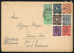 WEST GERMANY: Cover Sent From Berlin To Buenos Aires On 21/AU/1946, With Multicolor Postage Of 90Pg. Including 2 TWIN VA - [7] Federal Republic
