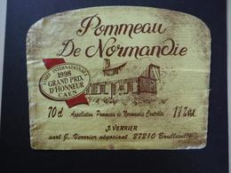 Pommeau De Normandie 1998 - J. Verrier à Boulleville - Etiketten