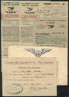 BRAZIL: Lot Of Old VARIG Airplane Tickets + Another Item, Interesting! - Unclassified