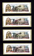 Atm-Lisa / Nabanco Lot CC 0.86, DD 0.88, AA 1.05, IP 1.30 € Fontaine Saint-Michel, Salon Philatélique De Printemps 2019 - 2010-... Geïllustreerde Frankeervignetten