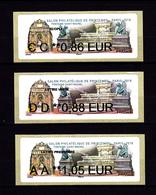 Atm-Lisa / Nabanco Lot CC 0.86, DD 0.88, AA 1.05 € Fontaine Saint-Michel, Salon Philatélique De Printemps 2019 - 2010-... Vignettes Illustrées