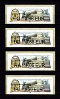 Atm-Lisa / Brother Lot CC 0.86, DD 0.88, AA 1.05, IP 1.30 € Fontaine Saint-Michel, Salon Philatélique De Printemps 2019 - 2010-... Vignettes Illustrées