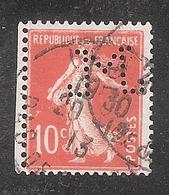 Perforé/perfin/lochung France No 138 M Sté Des Mines De Lens (6) - Perforadas
