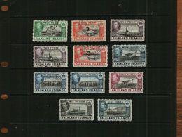 FALKLAND ISLANDS - KGVI - 1938 - 11 Stamps - USED - Falklandeilanden