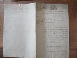 23 JUILLET 1814 EXTRAIT DES REGISTRES DES ACTES DE LA PREFECTURE DU NORD LILLE FEU CHARLES DELIOT ANCIEN OFFICIER AU SER - Manuscripts