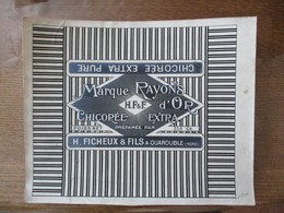 H. FICHEUX & FILS A QUAROUBLE NORD CHICOREE EXTRA MARQUE RAYONS D'OR - Labels
