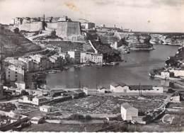 ** Lot De 2 Cartes ** 20 A - BONIFACIO Vues Aériennes - CPSM Dentelées Noir Et Blanc Grand Format 1950's - Corse Du Sud - France