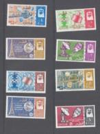QATAR - 1965 - ITU CENTENARY SET OF  8 MINT NEVER HINGED ,SGCT £36 - Qatar
