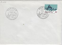 Switzerland 1967  BUBIKON  7.8.67   Mi.842 - Postmark Collection