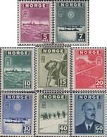 Norvegia 276-283 (completa Edizione) MNH 1943 Francobolli Il Governo In Esilio - Nuevos