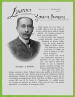 Albert VANDAL Historien - ACADEMIE FRANCAISE - Feuillet Publicitaire PRUNELLINE 69 Villefranche - Old Paper