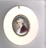 Miniatur-Malerei Auf Elfenbein - Wolfgang Amadeus Mozart (778) - Other Collections