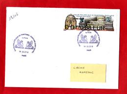 Atm-Lisa / Nabanco Lettre Verte 0,88 Sur Lettre Obl 14.03.2019 1er Jour   Fontaine Saint-Michel, - 2010-... Viñetas De Franqueo Illustradas