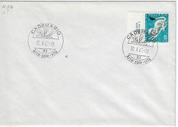 Switzerland 1967  CADEMARIO  10.5.67   Mi.845 - Postmark Collection