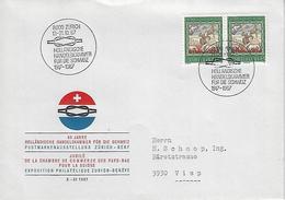 Switzerland 1967  Zurich  13-21.10.67   Mi.854 - Covers & Documents
