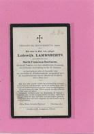 LODEWIJK LAMBRECHTS-GEEL- WINKELOMHEIDE - Esquela