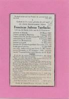 PRIESTER-FRANCISCUS JUDOCUS TUERLINCKX-GEEL-SCHRIEK-MECHELEN-ASSCHE-ASSE-WOMMERSOM-LARUM-HERENTALS - Décès
