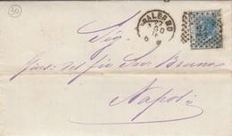 Palermo. 1876. Annullo Numerale Piccolo Cerchio A Punti, Su Lettera Completa Di Testo - 1878-00 Humbert I.