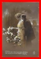 CPA FANTAISIES.  Couple D'amoureux Et Fleurs...J408 - Couples