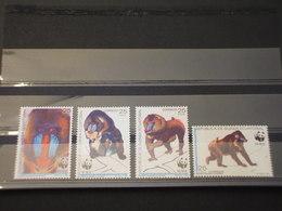 GUINEA EQUATORILE - 1991 WWF MANDRILLI 4 VALORI - NUOVI(++) - Guinea Equatoriale