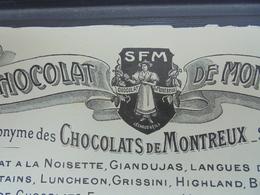 CHOCOLAT DE MONTREUX - L. SIGEAN Representant Pour PARIS, 18 RUE RAMBUTEAU, 3eme - FACTURETTE - Sin Clasificación
