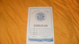 PUBLICITE ANCIENNE AUTOMOBILES MATHIS STRASBOURG...MODELES 1928... - Pubblicitari