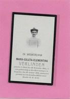 MARIA COLETA CLEMENTINA VERLINDEN- GEEL-TONGERLOO - Esquela