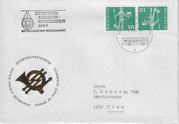 Switzerland 1967 Automobil-Postbureau  29.9.67   Mi.697 K45 - Covers & Documents