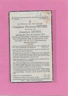JOSEPHUS ALOYSIUS PEETERS -GHEEL- GEEL-OORLOG 1940-45-OORLOGSFEITEN - Décès