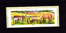 Atm-Lisa /  Lettre Internationale  IP 1.30 € Salon De L'Agriculture 2019 - 2010-... Vignettes Illustrées