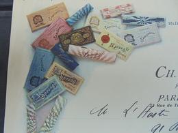 1911 - FABRIQUE BERNOISES Et ZURICOISES, Chocolat LINDT Et SPUNGLI - PARIS 23 RUE DE  TURENNE, CH. DEMELLIER - DECO - Sin Clasificación