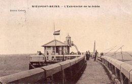 Nieuport-bains  Extrémité De La Jetée Animée Circulé En 1913 - Nieuwpoort
