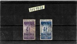 Francobollo Francobolli Repubblica Italiana Serie Radiodiffusione Usata 2 Valori Used Stamp Italy 2 Two Stamps - 6. 1946-.. Repubblica