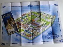 Dep059 Depliant Flyer Turismo Bangkok Thailandia Palazzo Reale Mappa Grand Palace Map  Re King Roi - Dépliants Turistici
