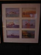 6 Postkarten Mit Ozeanriesen/Schiffen Gerahmt Von Ca. 1920 (785) - Ansichtskarten