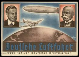 Germany 1936 Hindenburg Zeppelin Deutsche Luftfahrt Olympic 1941 Leipzig P 90820 - Briefmarken