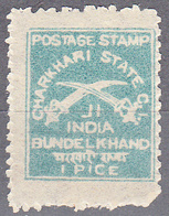 INDIA--CHARKHARI      SCOTT NO.  10     MINT HINGED     YEAR  1909 - Charkhari