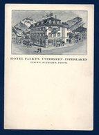 Suisse. Unterseen (Interlaken). Hôtel Franken, Café-Restaurant.( Geschwister Schmoker) - BE Berne