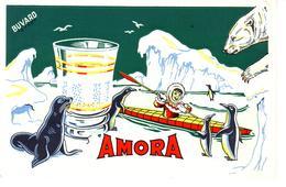 Superbe Buvard De Collection  AMORA  Paysage Polaire Circa : 1960 - Mostard